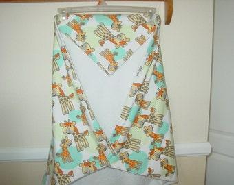 Giraffe hooded baby bath towel & washcloths