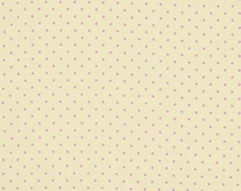 Lottie Da by Heather Bailey, Free Spirit Fabrics, Cream Lottie Dot, Quilt Fabric