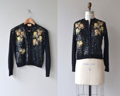 Autumn Soirée cardigan | vintage 1950s sweater | beaded 50s cardigan
