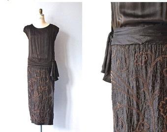 25% OFF.... Favor of Fortune dress | 1920s beaded silk dress • vintage 20s dress