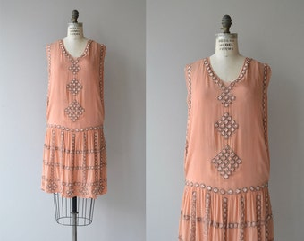 Stork Club dress | vintage 1920s dress | beaded silk 20s dress