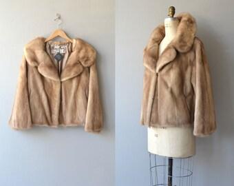 Champagne Room mink coat   vintage 1950s fur coat   autumn haze 50s mink coat