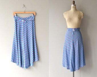 Cherry Drop skirt | vintage 1930s skirt | polka dot 30s skirt