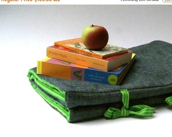 SALE NAP MAT - organic preschool napmat for toddlers - eco friendly school bedding - grass green stripes