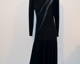 Vintage Black Starburst Dress
