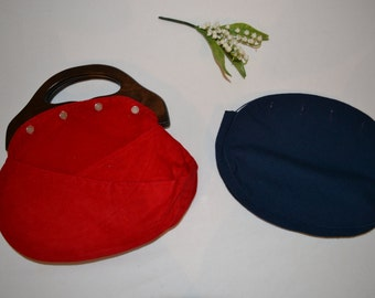 Vintage Bermuda Bag with Red & Navy Covers