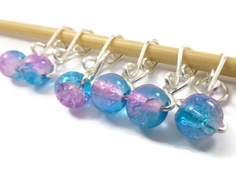 Crochet Stitch Markers - Cotton Candy Melody - Stitch Markers - Small, Medium, Large, or XL