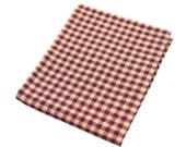 """17"""" x 21"""" Fat Quarter Piece of Quilting Cotton Fabric - Wine Red Country Gingham Picnic Plaid"""