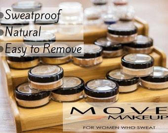 Sweatproof, Natural Foundation SAMPLES - ENTIRE RANGE - 90% Natural Vegan Makeup, Loose Mineral Foundation, Makeup for Acne, Mineral Makeup