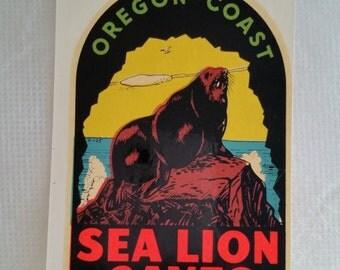 Oregon Coast Vintage Decal 1960's Vintage, Lindgren-Turner, Spokane Wa.