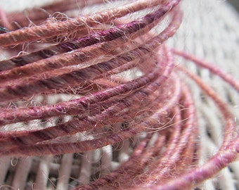 3 yards of Wool Wire in shades of pink, Fiber Wire pastel pink