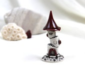 Strawberry ruby red Summer Gothic romantic tower of tiny fairies - Hand Made Ceramic Eco-Friendly Home Decor by studio Vishnya