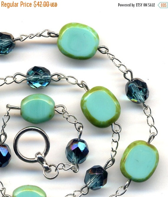 Black Friday 25 Off Sale Turquoise Necklace Mod Style