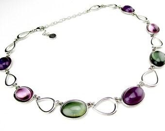 Necklace Napier Purple Green