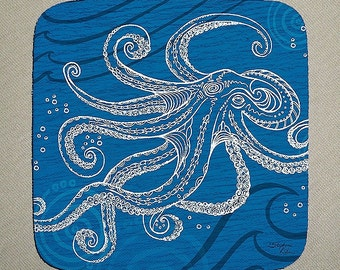 Octopus One Color Coaster Set of 4
