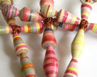 Pape Bead Cross Ornament - Set of 3 - #1227