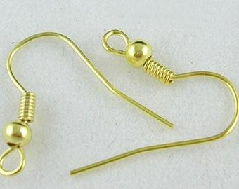 Gold Earring Wires - Set of 50 pieces - #EW104