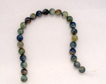 Half Strand of 8mm Round Blue Kyanite (207)