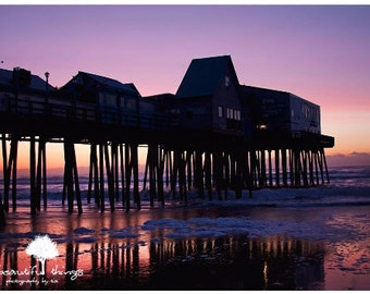 ST Old Orchard Beach Pier Sunrise New England Home Decor  fPOE poe team STANDOUT with black trip 11x14 16x20 20x30
