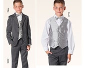 BOYS CLOTHES PATTERN / Make Suit - Jacket, Pants - Vest / Formal - Party - Wedding / Sizes 9 - 15 years