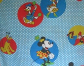Mickey Mouse Twin Flat Sheet Minnie Donald Daisy Goofy