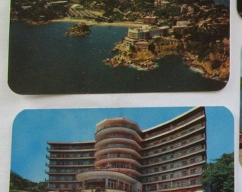 Collection of 6 Vintage Postcards Acapulco Mexico 1960's