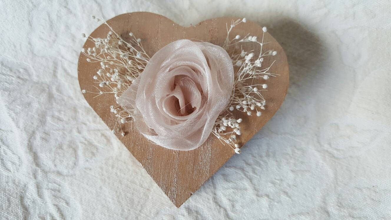 Rose gold heart shaped wedding ring box shabby by for Heart shaped engagement ring box