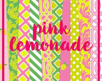 Pink Lemonade Digital Paper Pack (Instant Download)