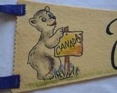 Vintage JASPER PARK Alberta CANADA felt pennant smaller size souvenir