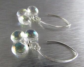 25% Off Summer Sale Mystic Crystal Quartz Sterling Silver Earrings