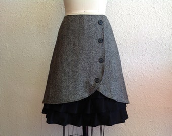 Dylan wool ruffle front skirt Sz 8