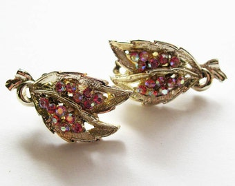 Vintage AB Rhinestone Earrings