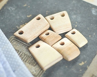 6 Wooden pendants
