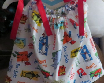 New handmade Dr. Seuss  pillowcase dress size 18 months