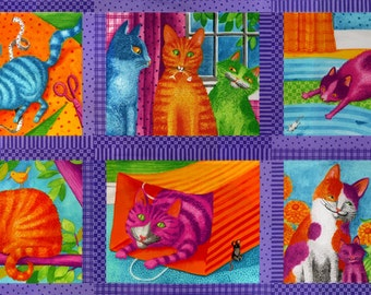 """Weekly Special! Weekly Special! Prisma Cats 24""""x44"""" Panel Purple"""