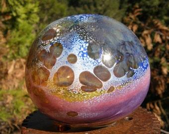 Glass Balloon, garden art, made in oregon