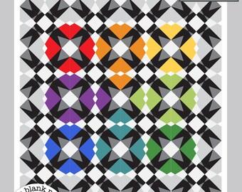 Space Gem #232 Paper Pieced Quilt Pattern - 3 sizes