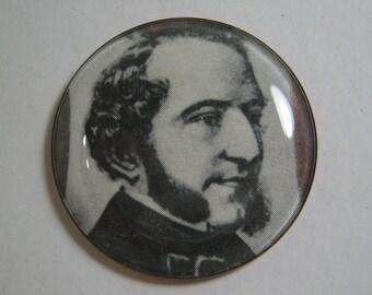 Harry G. Wessel Watch Crystal Button Sigismund Thalberg, Austrian. Pianist