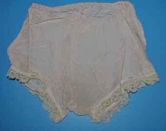 Vintage Satin with Lace Trim Women's Panties 20's or 30's