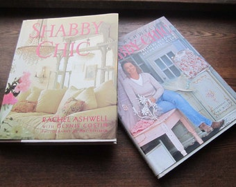 First Edition Shabby Chic Books * 2 Vintage Coffee Table Books * Rachel Ashwell * Relaxed shabby Chic Home Decor 1990's