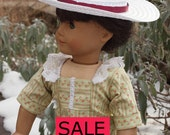 18 inch Doll Clothes - Girl Dolls - Clothes  - Historical Outfit - 1920's  Afternoon Tea Dress  - Hat - SALE