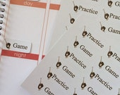 Huge Sale Planner Stickers 36 Baseball Game Practice Stickers
