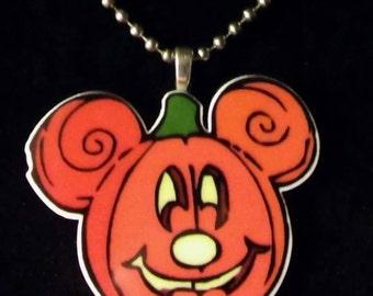Mickey Shape Pumpkin Necklace
