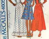 Vintage Pattern Pinafore Apron 3 Lengths McCalls 4605 Sz 18-20 Uncut Prairie Style Costume#A337 FREE SHIPPING