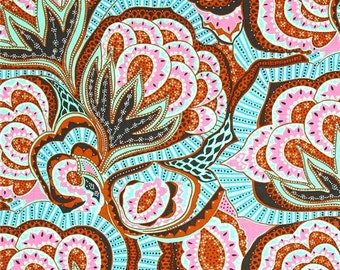 Amy Butler, Hapi, Oasis, River, Floral Fabric, Rowan Westminster Fabrics, Designer Cotton Quilt Fabric, Quilting Fabric