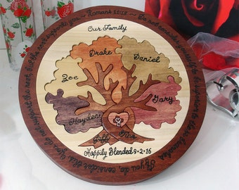 One Of A Kind Heirloom Family Tree Puzzle Custom Designed Personalized Family Tree Puzzle Christmas Gift for Mom Unique Gifts for Dad