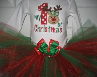 My First Christmas tutu set