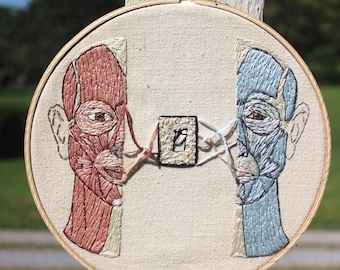 Embroidered Face Anatomy- Flip the switch