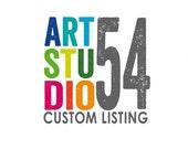 Custom Listing for Helen - Wall Decal - Vinyl Wall Sticker Decal Indoor Decor Decoration - White, Black, Blue, Gold, - artstudio54