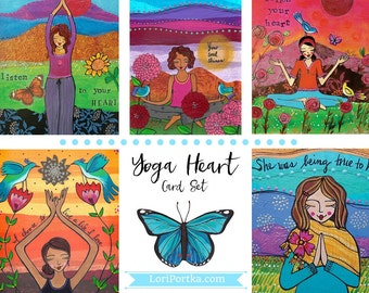 Card Set : Yoga Heart #12-CS